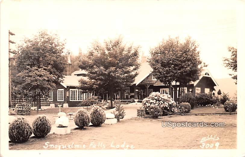 Snoqualmie Falls Lodge - Washington WA Postcard