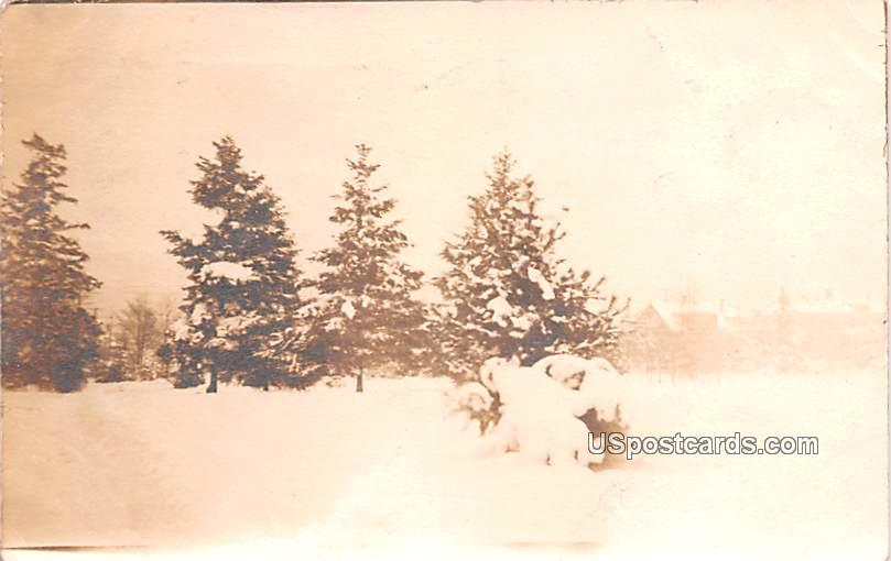 Winter Scene - Seattle, Washington WA Postcard