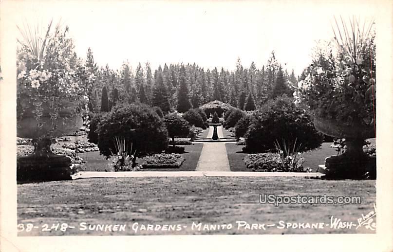 Sunken Gardens - Spokane, Washington WA Postcard