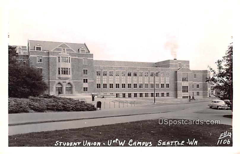 Student Union - Seattle, Washington WA Postcard
