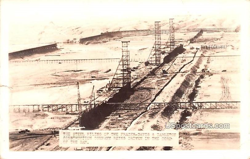 Steel Piling of the Frazer Davis & Tarleton Construction Company - Seattle, Washington WA Postcard