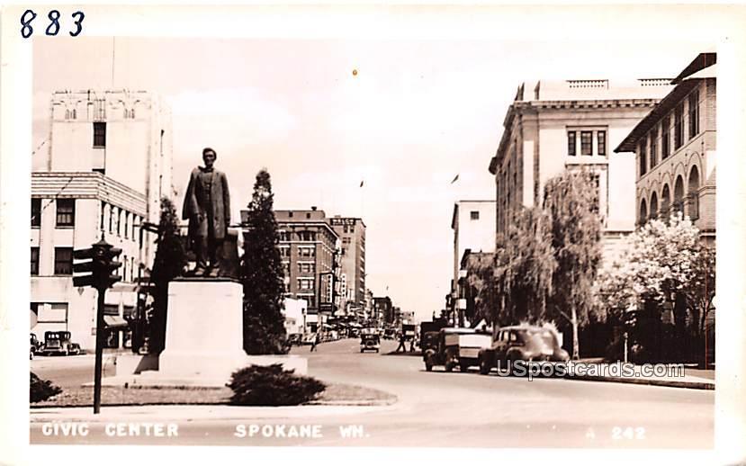 Civic Center - Spokane, Washington WA Postcard