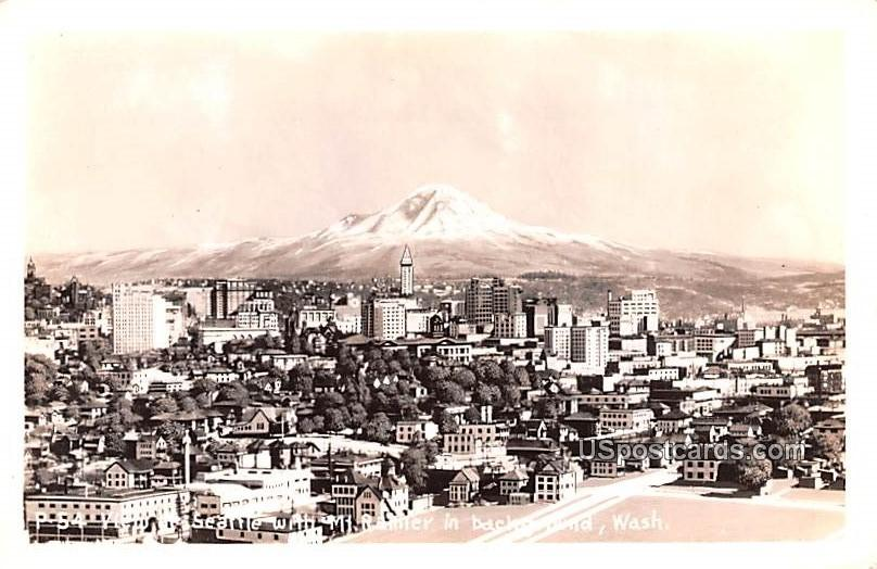 Mount Rainier - Seattle, Washington WA Postcard