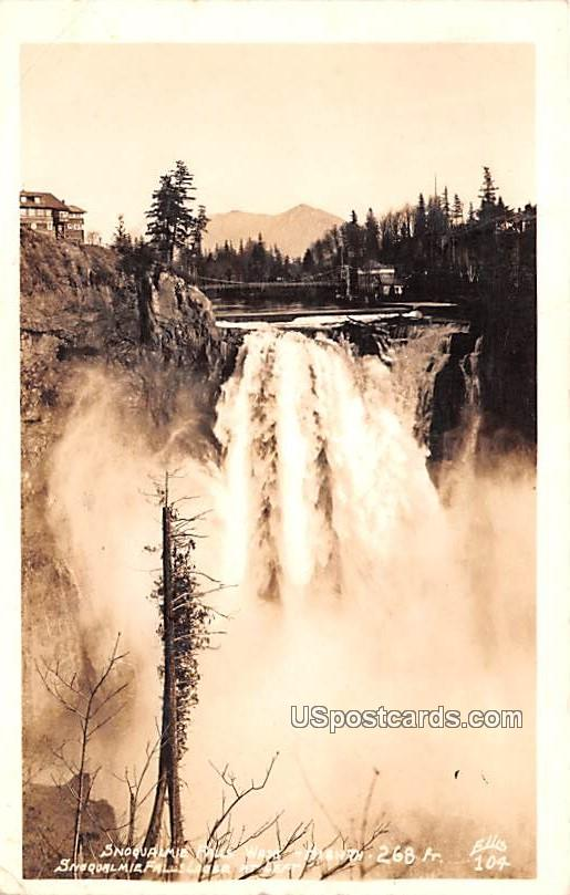 Snoqualmie Falls - Washington WA Postcard
