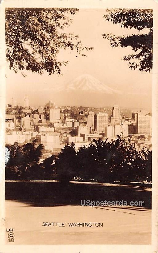 Birds Eye View - Seattle, Washington WA Postcard
