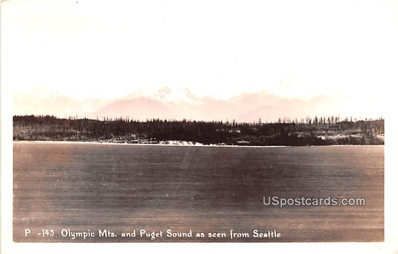 Olympic Mountains - Seattle, Washington WA Postcard