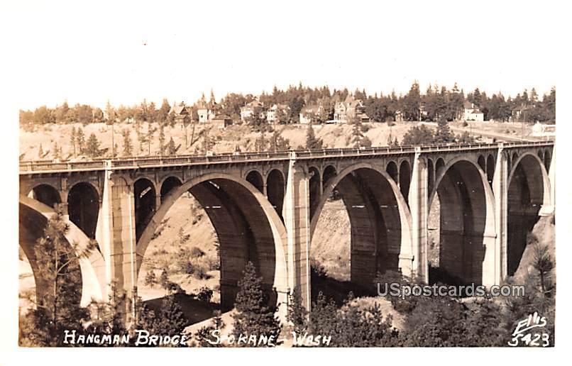Hangman Bridge - Spokane, Washington WA Postcard