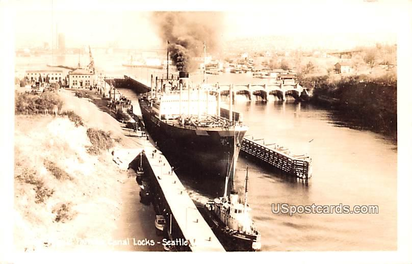 World Famous Canal Locks - Seattle, Washington WA Postcard