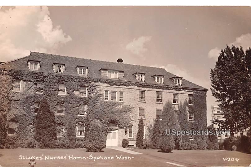 St Luke's Nurses Home - Spokane, Washington WA Postcard