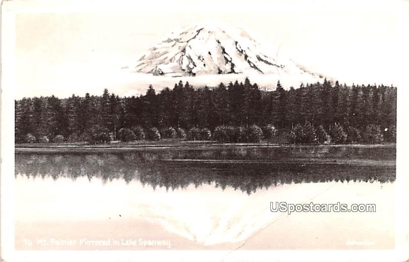 Mount Rainier Mirrored - Seattle, Washington WA Postcard