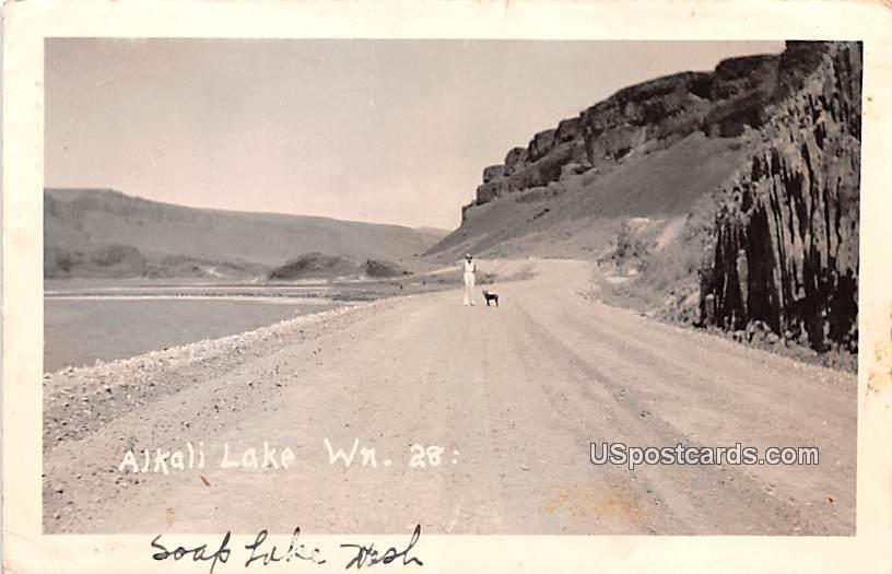 Alkali Lake - Soap Lake, Washington WA Postcard