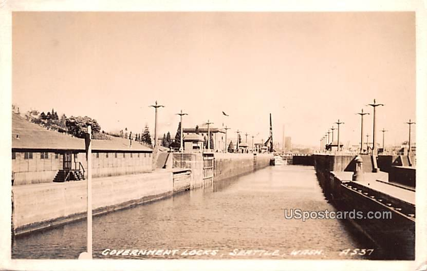 Government Locks - Seattle, Washington WA Postcard