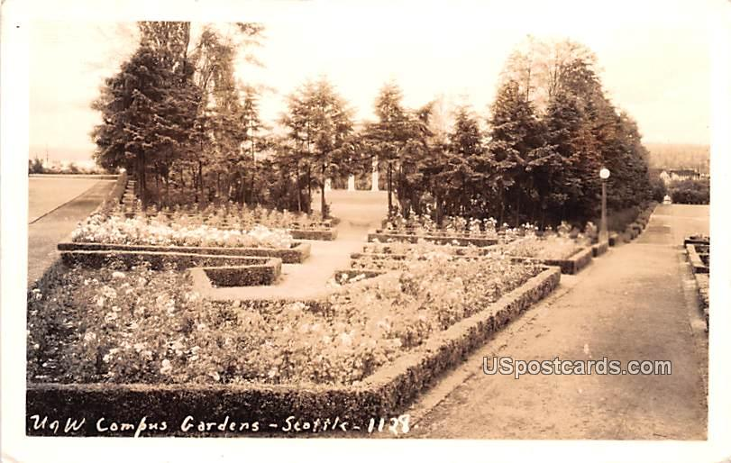 University of Washington Gardens - Seattle Postcard