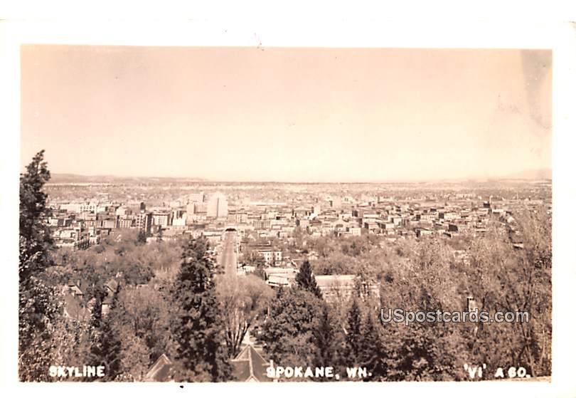 Skyline - Spokane, Washington WA Postcard