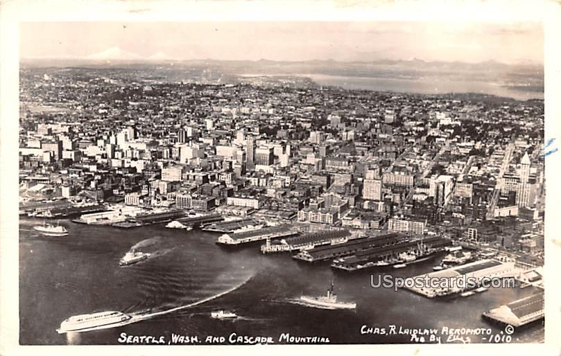 Cascade Mountains - Seattle, Washington WA Postcard