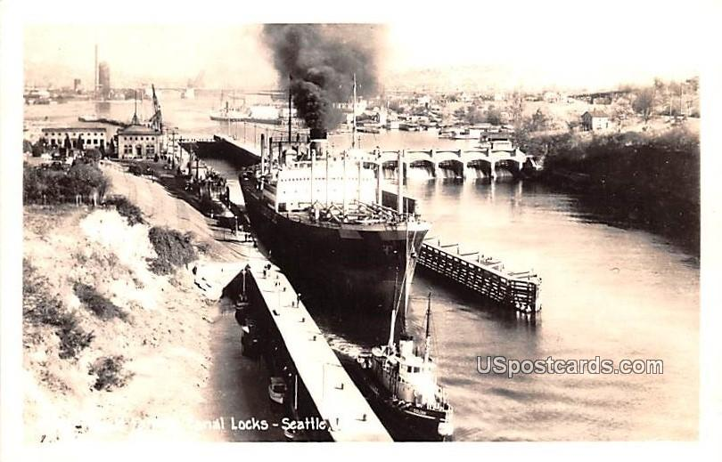 Famous Canal Locks - Seattle, Washington WA Postcard