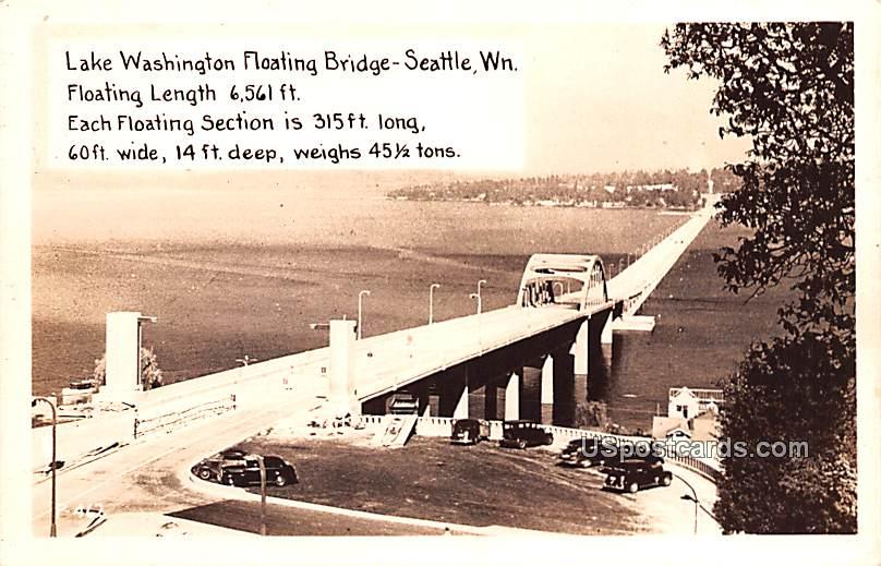 Lake Washington Floating Bridge - Seattle Postcard