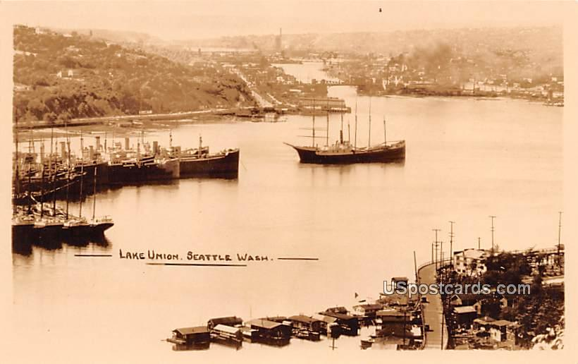 Lake Union - Seattle, Washington WA Postcard