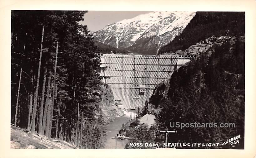 Ross Dam - Seattle, Washington WA Postcard