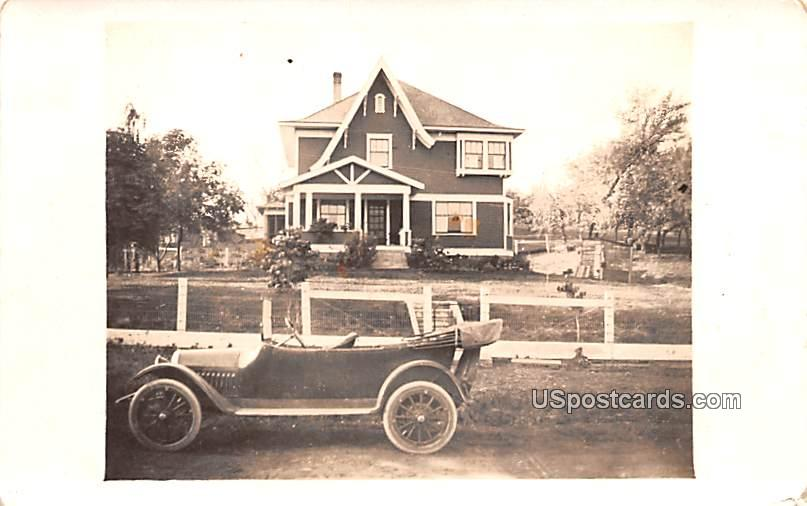 Old House and Car - Steptoe, Washington WA Postcard