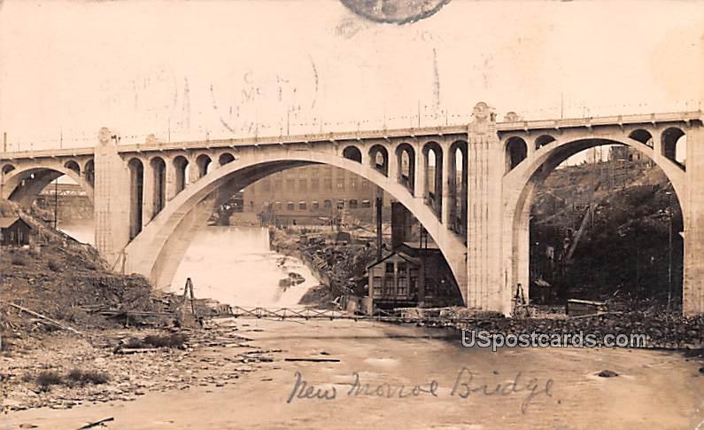 New Monroe Bridge - Spokane, Washington WA Postcard