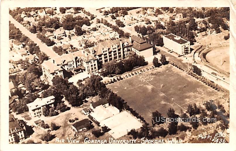 Air View - Spokane, Washington WA Postcard