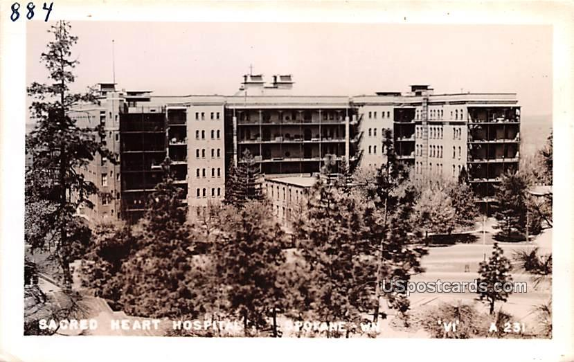 Sacred Heart Hospital - Spokane, Washington WA Postcard