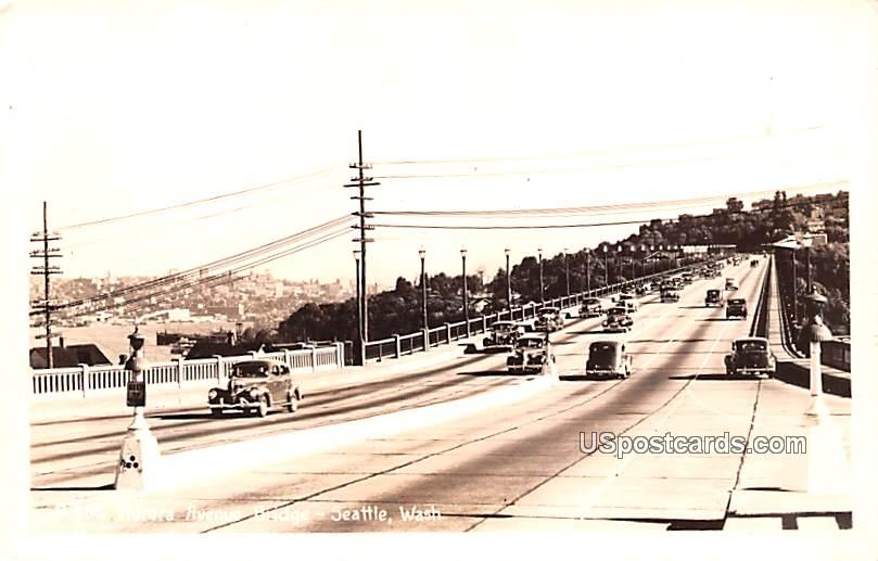 Aurora Avenue Bridge - Seattle, Washington WA Postcard