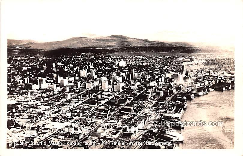 Looking South - Seattle, Washington WA Postcard