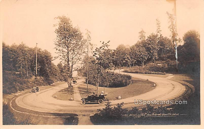 Lake Washington Boulevard - Seattle Postcard