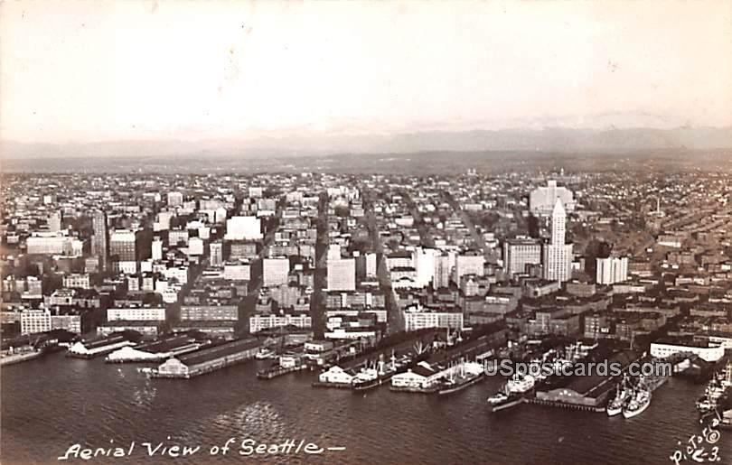 Aerial View - Seattle, Washington WA Postcard