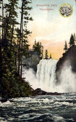Snoqualmie Falls - Misc, Washington WA Postcard