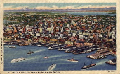 Harbor - Seattle, Washington WA Postcard