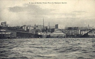 Water Front - Seattle, Washington WA Postcard