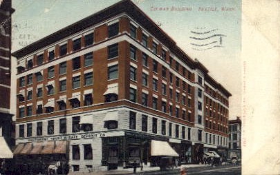 Colman Building - Seattle, Washington WA Postcard