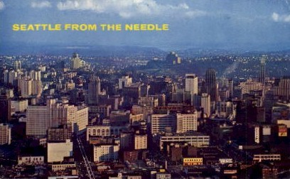Seattle From The Needle - Washington WA Postcard