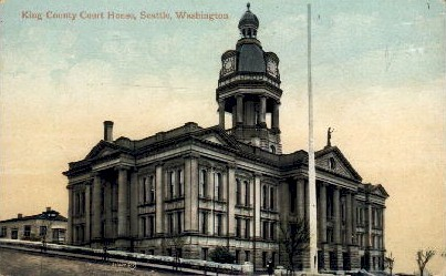 King County Court Houses - Seattle, Washington WA Postcard