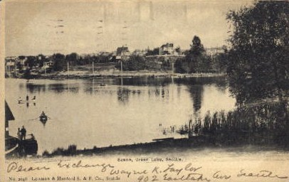 Green Lake - Seattle, Washington WA Postcard