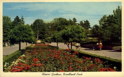 Flower Garden At Woodland Park - Seattle, Washington WA Postcard