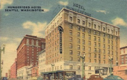 Hungerford Hotel - Seattle, Washington WA Postcard