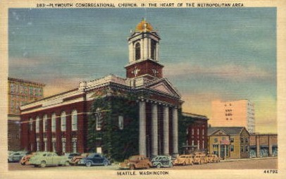 Plymoth Congregational Church - Seattle, Washington WA Postcard
