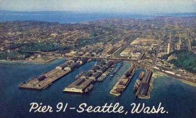 Pier 91 - Seattle, Washington WA Postcard