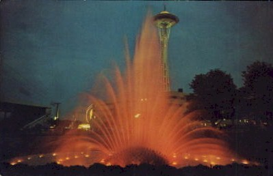 International Fountain  - Seattle, Washington WA Postcard