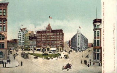 Pioneer Place - Seattle, Washington WA Postcard