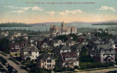Capitol Hill And Holy Names Academy - Seattle, Washington WA Postcard