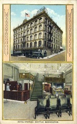 Hotel Stevens - Seattle, Washington WA Postcard