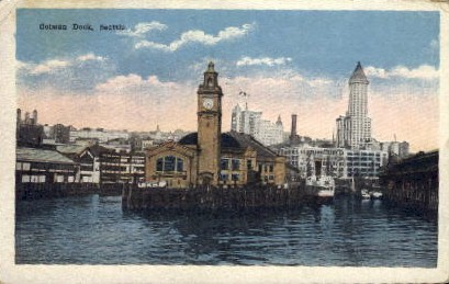 Colman Dock - Seattle, Washington WA Postcard