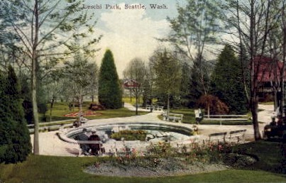 Leschi Park  - Seattle, Washington WA Postcard