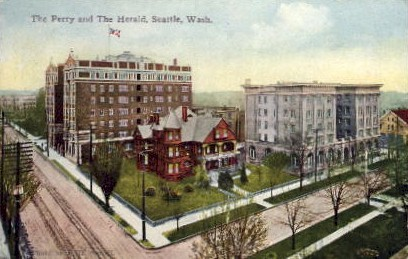 The Perry And The Herald - Seattle, Washington WA Postcard