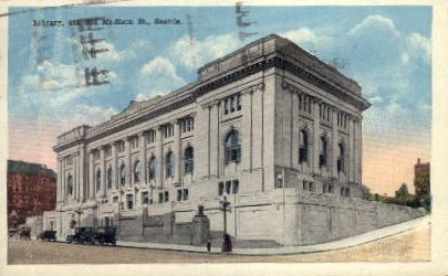 Library on 4th And Madison - Seattle, Washington WA Postcard